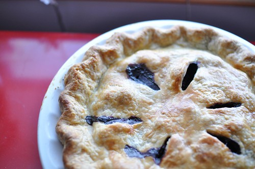 blueberry birthday pie