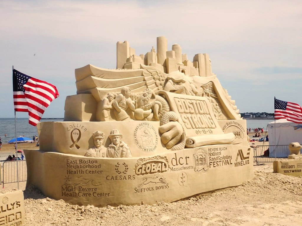 2013 revere beach sand sculpting festival boston strong