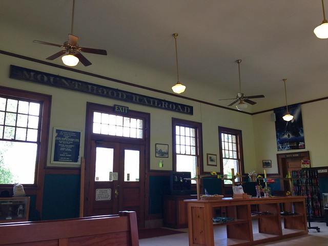フッドリバー鉄道駅舎