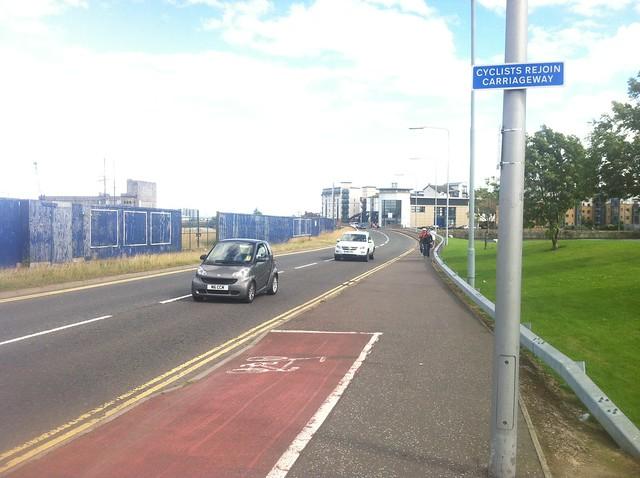 Ocean Terminal end of bike lane
