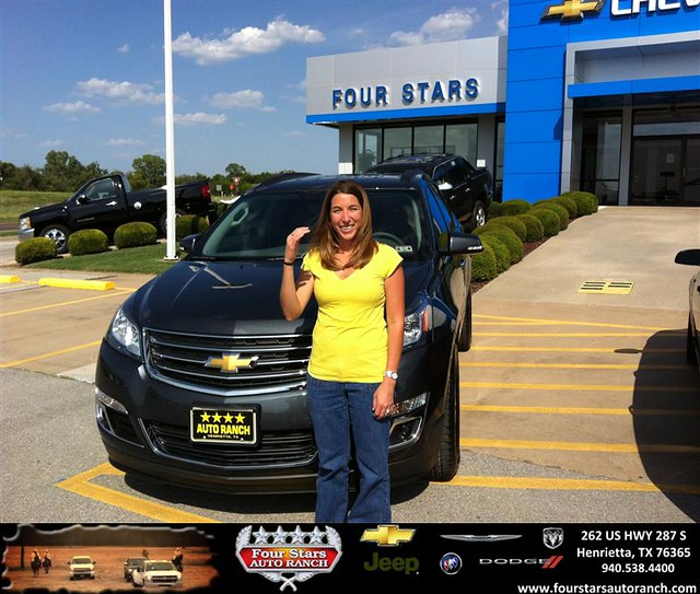 thank you to ashley panik on the 2013 chevrolet traverse from mark havens and everyone at four. Black Bedroom Furniture Sets. Home Design Ideas