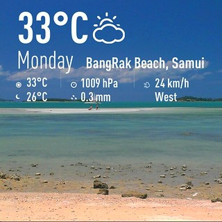 Koh Samui Weather サムイ島お天気 19Aug2013
