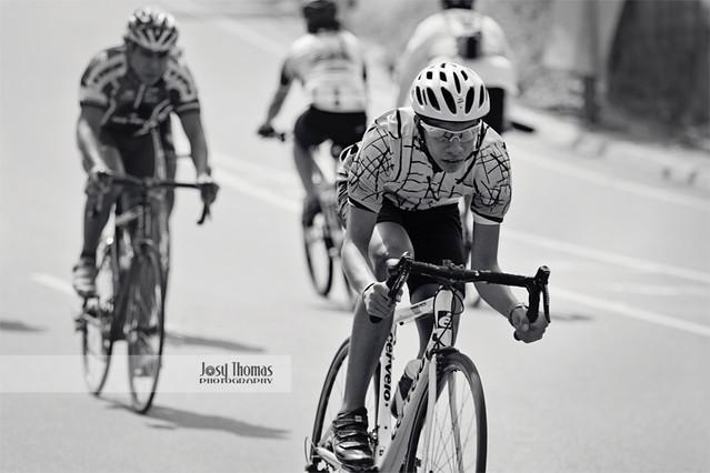 Ciclistas en Blanco y Negro