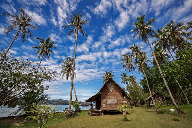 Paradise resort Cubadak in West Sumatra, Indonesia.