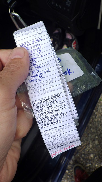 Sophie's Cache Logbook