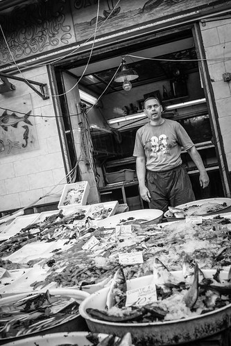 Naples markets #2 - B&W by Davide Restivo