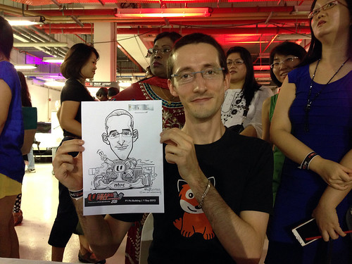 caricature live sketching for NTUC U Grand Prix Experience 2013 - 32