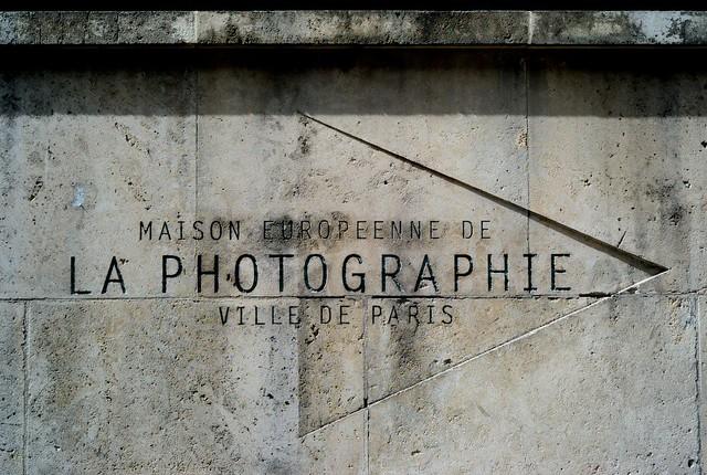 ヨーロッパ写真美術館の看板。