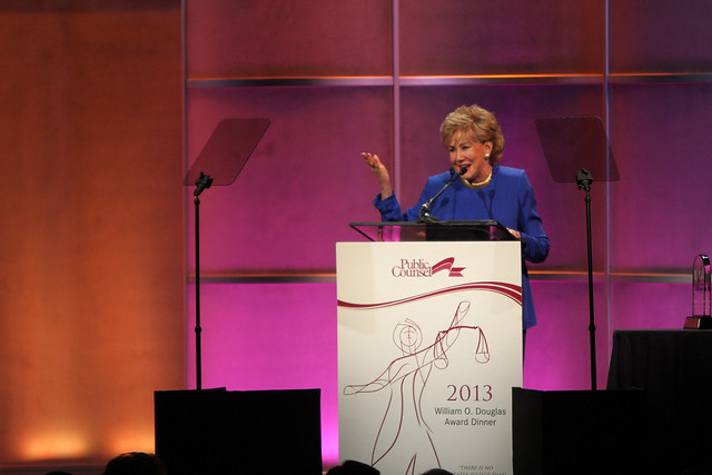Elizabeth Dole at the 2013 William O. Douglas Dinner