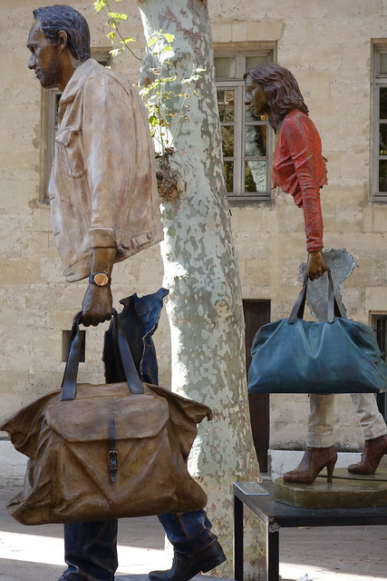 Sculpture Les Voyageurs