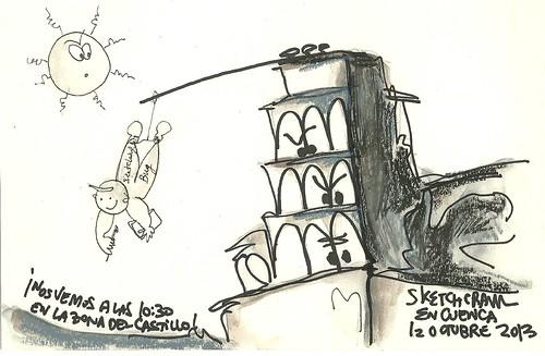 Cartelillo para Sketchcrawl de Cuenca