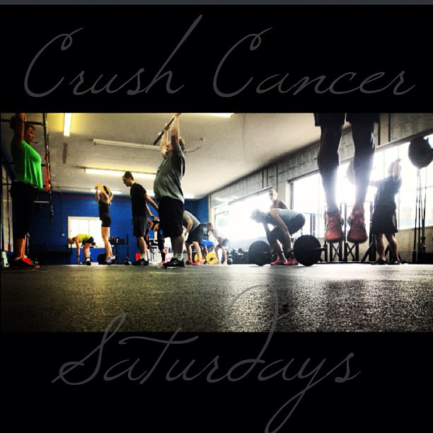 #CrushCancerSaturdays continue. Great energy - great classes today. #crushcancer #workingtogether for a #biggercause #crossfit