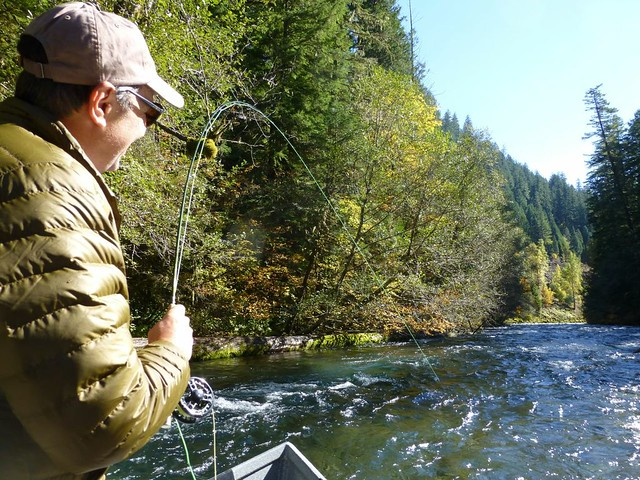 Tony Casad on the upper river