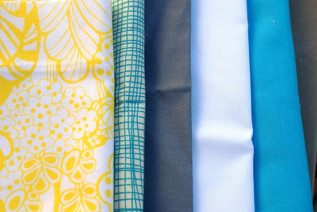 gray, yellow, white and blue