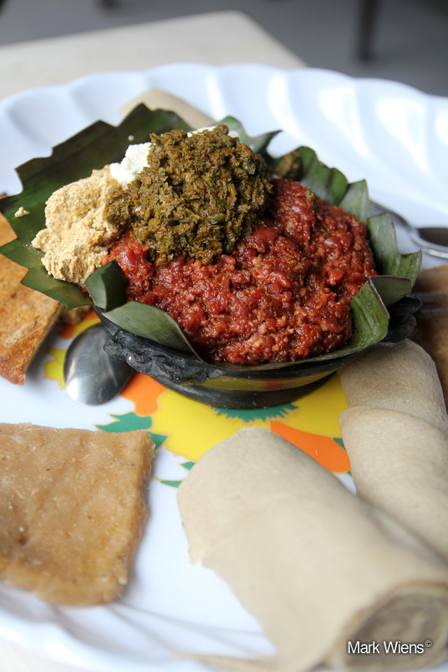 10246497835 d04907092a o Ethiopian kitfo, raw beef that will melt in your mouth