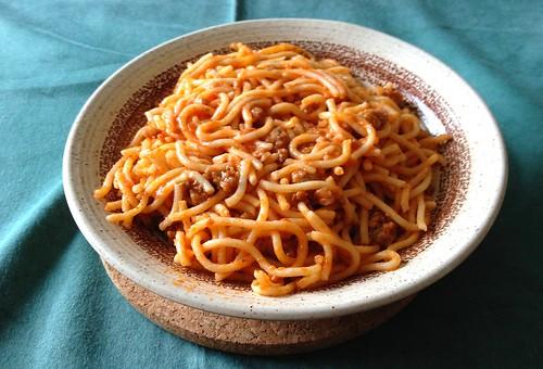 Spaghetti mit Tomatensauce - Reste