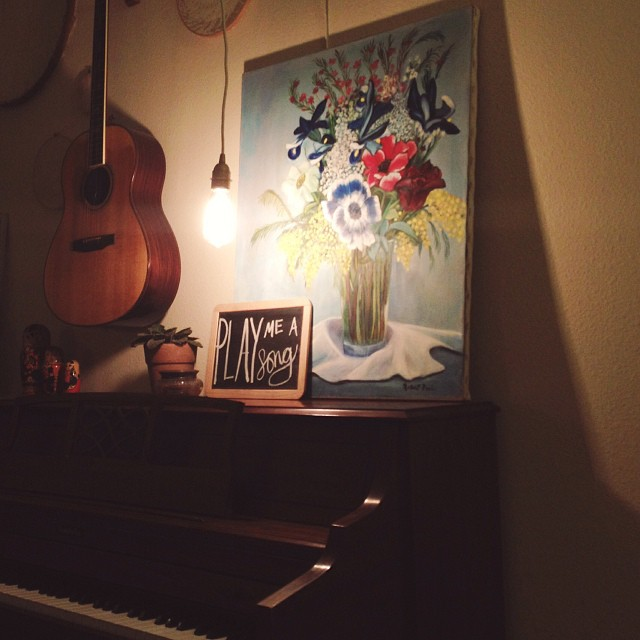 The new piano light! #loveloveloveit #itisbrighterthanitlooks