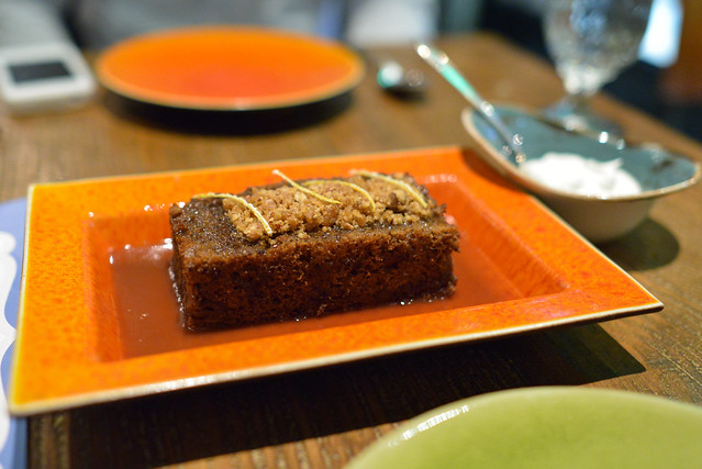 """Sticky Toffee Pudding"" - Date Cake, Toffee, Candied Orange"