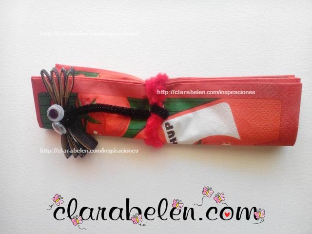 libélula para niños con rollo de cartón