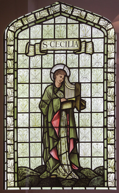 St Cecilia, designed by Edward Burne-Jones, about 1897