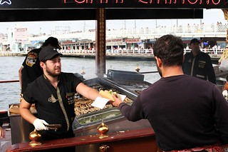 Fish burgers sold from a boat in Eminonu, Istanbul