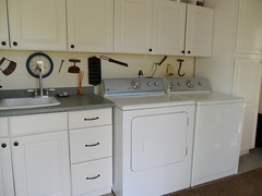 floor, kitchen, furniture, countertop, room, property, laundry room, cabinetry, sink,