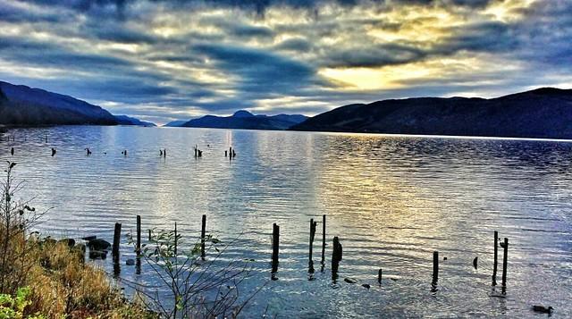 Loch Ness, Scotland at dusk