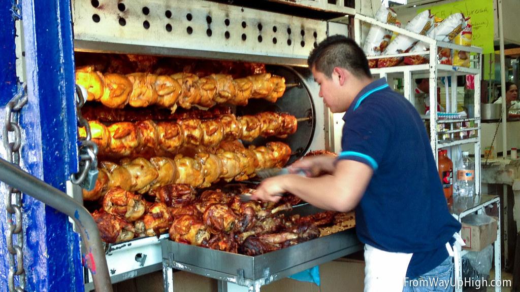 Mercado San Juan rotisserie chickens