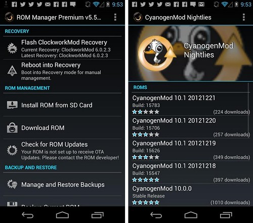 ROM Manager для Android