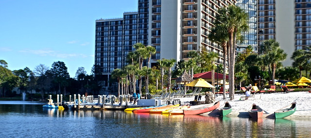 Cypress Gardens Villas and Golf Resort, Orlando Florida - beach at Hyatt