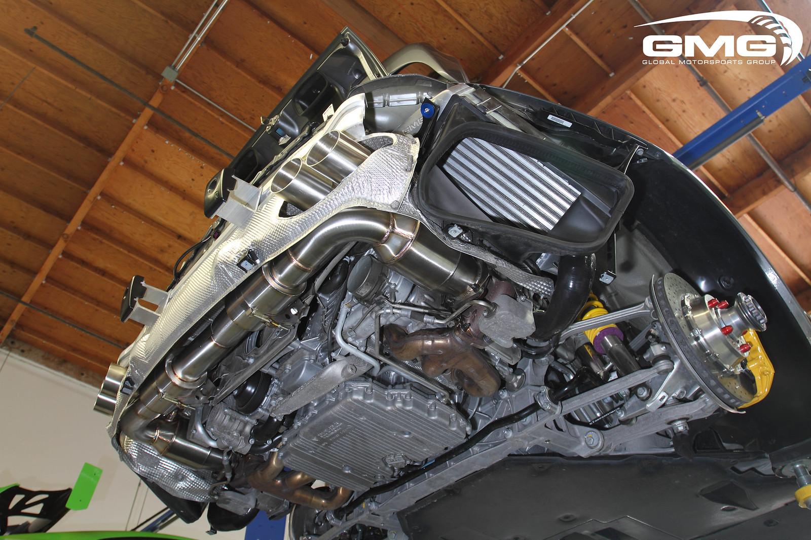 gmg racing porsche 997 2 turbo s w   gmg exhaust