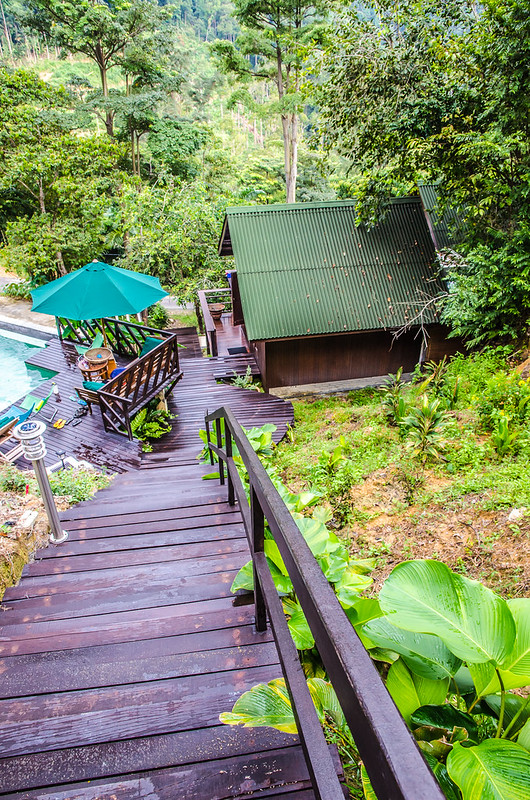Take the stairs to the Perling House of the Dusun