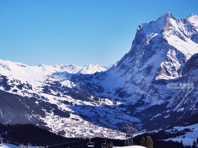 overlooking Grindelwald from Kleine Scheidegg