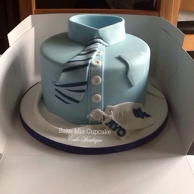 Mens Shirt Cakemade For A Clients Husbands 50th Birthday