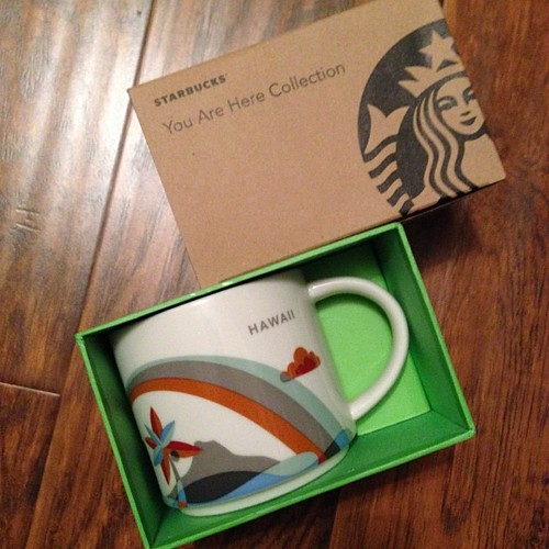 39:365 @msrobincorrea Thank You!! It arrived today and I love it! #starbucks #youarehere #hawaii