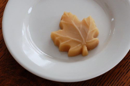 A maple sugar leaf by Eve Fox the Garden of Eating blog, copyright 2014