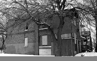"""Nobody Lives Here no More"" - West Side of Chicago - Ilford FP4 - EOS 1n - Feb 2014 - 009"