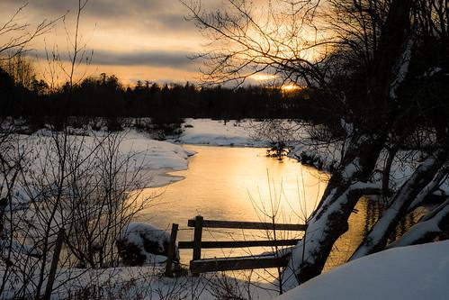 winter sunset snow canada novascotia cornwallisriver fujixe2