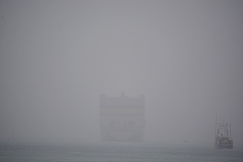 ghostly Mokihana and fishing boat