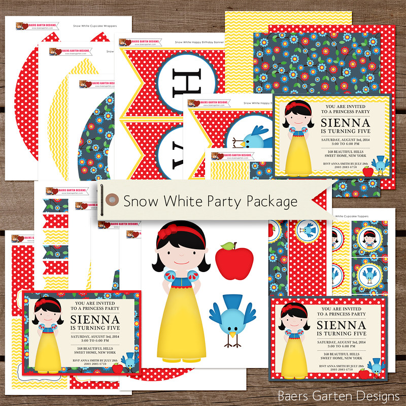Snow White Birthday Party printables