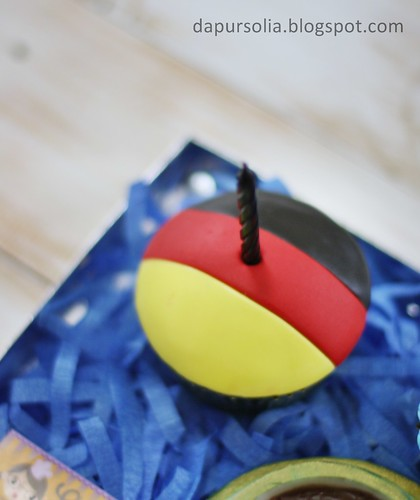 Germany Colors Cupcake
