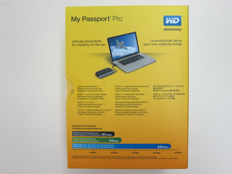 Western Digital My Passport Pro - Box Back