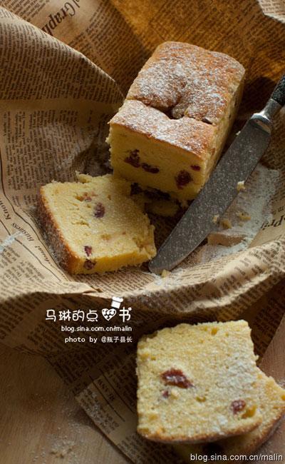 鲜奶油蔓越莓磅蛋糕