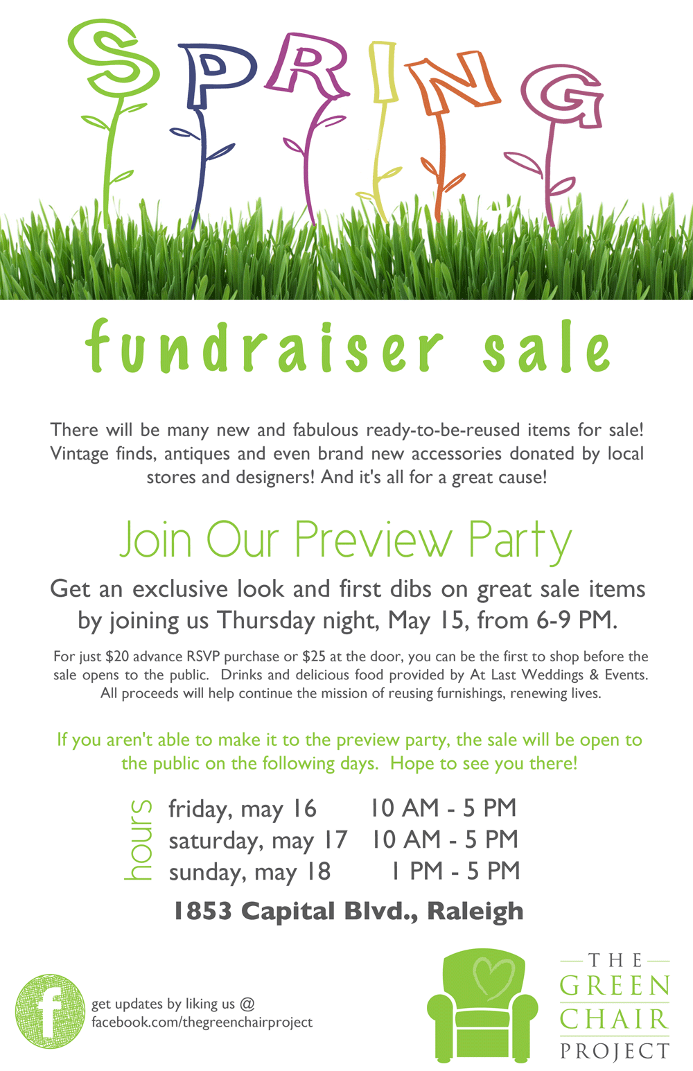Spring Fundraiser Sale The Green Chair Project Shop
