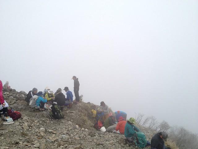 武奈ヶ岳 山頂の光景
