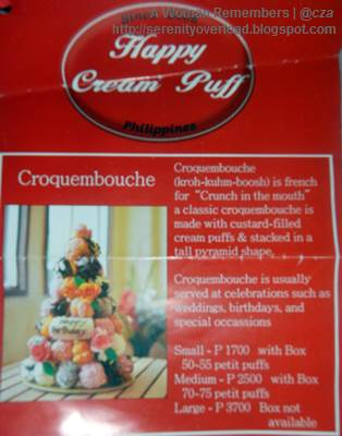 Happy-Cream-Puff_ Croquembouche, Happy Cream Puff, food, Shangrila Plaza East Wing