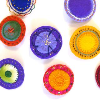 Embroidery mandala's