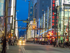 GRANVILLE STREET, DOWNTOWN VANCOUVER