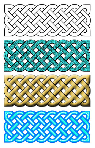 Celtic knots with visual effects