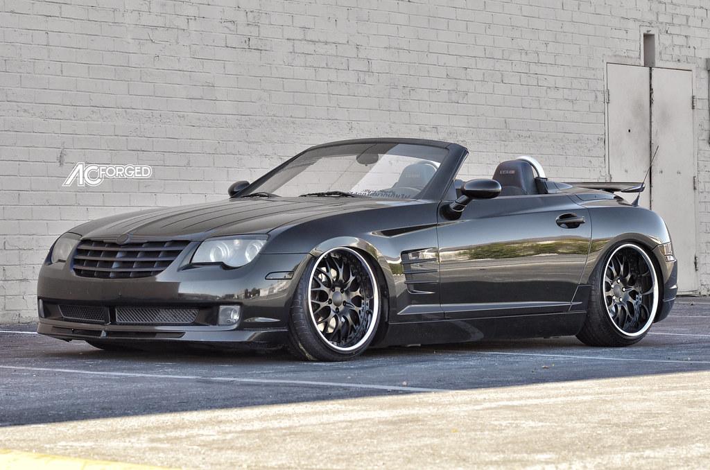 19 AC Forged 313 matte black face chrome lip on 2005 Chrysler